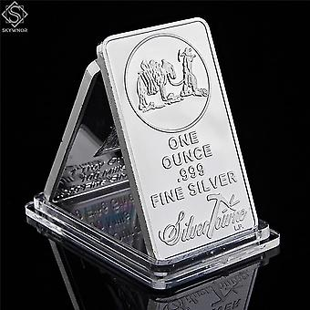 Amerikkalainen kullankaivaja 1oz 999 arvo hieno hopeaharkko
