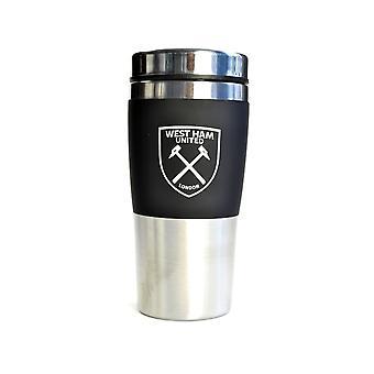 West Ham Executive kahvaton ruostumattomasta teräksestä valmistettu matkamuki