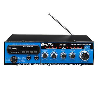 DC 12V AC 220V LCD bluetooth Power Amplifier MP3 Aux in FM Radio With Remote