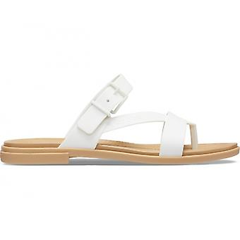 Crocs 206108 Tulum Toe Post Sandal Ladies Sandals Oyster/tan