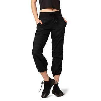 Women's Ribbed Waistband Capri with Adjustable Drawcord at hem and 22-Inch Inseam