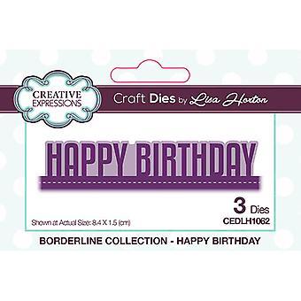 Kreative udtryk Borderline Collection Cutting Dies - Tillykke med fødselsdagen