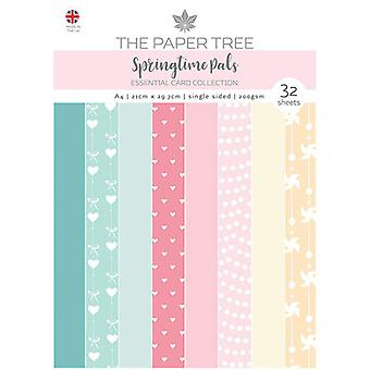 The Paper Tree - Springtime Pals Collection - A4 Essential Colour Card Pack