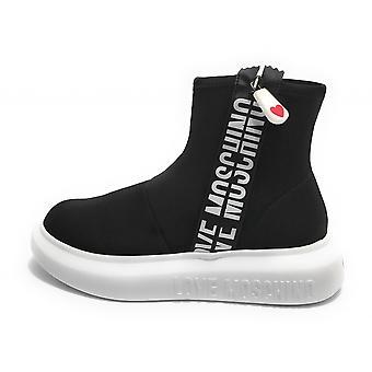 Zapatos Mujer Amor Moschino Zapatilla un Sock Negro Fondo Ds21mo13 Ja15234g1cin0000