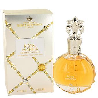 Royal Marina Diamond Eau De Parfum Spray By Marina De Bourbon 3.4 oz Eau De Parfum Spray