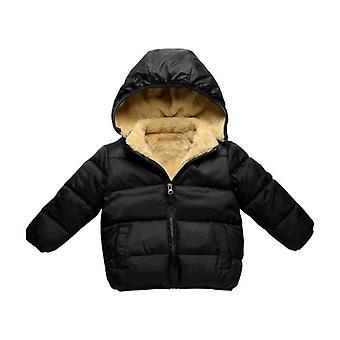 Girl Zimný kabát Teplý hustý zamat s kapucňou kabáty Vrchné oblečenie