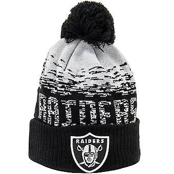 New Era Las Vegas Raiders Ombre NFL Football Winter Beanie Bobble Hat - Noir