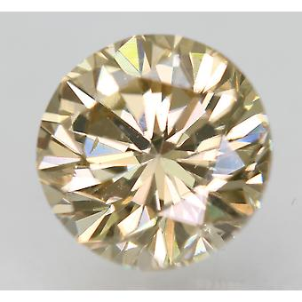 Cert 1.01 Quilates Fancy Orangy Brown VVS1 Round Brilliant Natural Diamond 5.99mm
