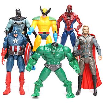 6st/lot Avengers 2 Hulk Spider-man Iron Man Figure Toy Captain America