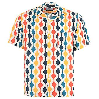 Portuguese Flannel Drop Short Sleeve Shirt - Multi Coloured