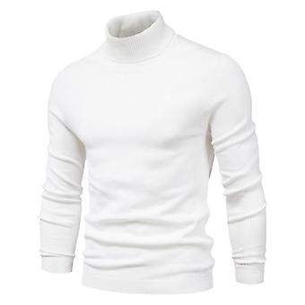 Winter Turtleneck Thick Mens Sweaters Casual Turtle Neck Solid Color Quality Warm Slim Pullover Hommes