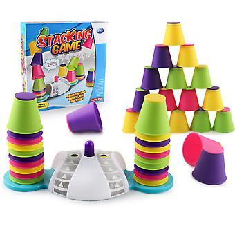Copoz Doppel Wettbewerb Stapeln Tasse Spiel Kinder pädagogische Früherziehung Spielzeug Desktop Farbe Stapeln Spiel