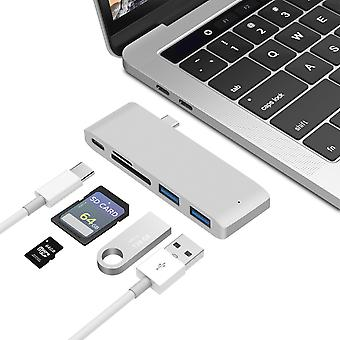 Macbook Hub Konverter USB-c zu hdmi Kabelseperater Typ-c Docking-Station Kartenleser