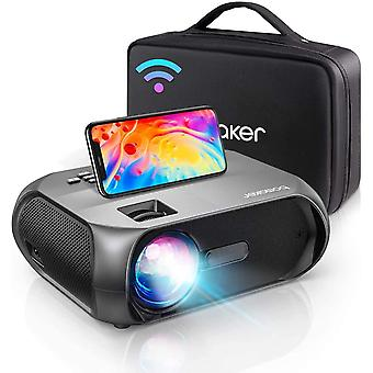 WiFi Beamer 6500, Mini Projektor unterstützt Native 1080P Full HD, Native 720P Beamer Heimkino für