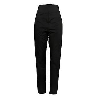 LOGO By Lori Goldstein Women's Plus Pants Knit Pull-On Black A260143