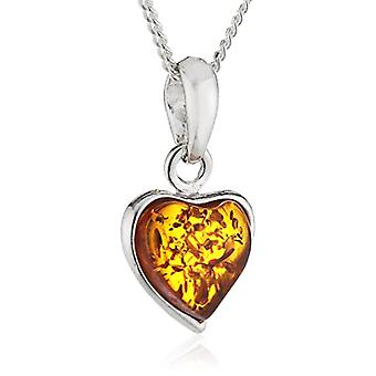 InCollections 241A200220890 - Women's pendant chain with amber, sterling silver 925, 420 mm