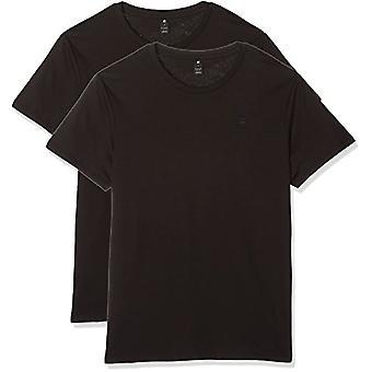 G-STAR RAW Base Htr R T S/s 2-Pack T-Shirt, Black (Solid Black 2019), X-Large Men