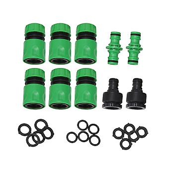 10 pieces 1/2inch Garden Irrigation Water Pipe Joint Connector ABS Sets