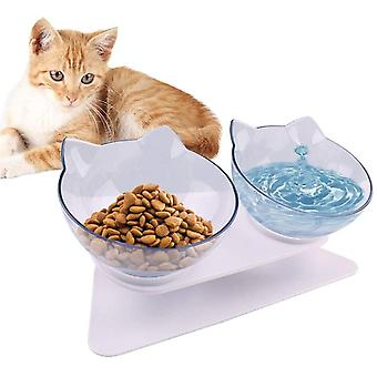 Doppelter Futternapf, Katzennäpfe, Futternapf Katze, mit erhöhtem Ständer- rutschfeste Katzenschale