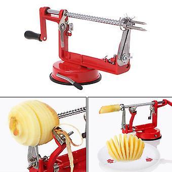 Ruostumattomasta teräksestä valmistettu omenankuorija, viipalointihedelmäkone, kuorittu työkalu