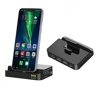Type-c expansion dock huawei mate10/p20 mobile phone to hdmi/sd/tf samsung cell phone stand converter