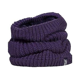 Ladies fleece lined chunky knit neck warmer