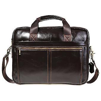 Skóra bydlęca skórzana torba na laptopa retro men's torba szkolna torebka torebka torba na ramię do notebooka 13,3 cala
