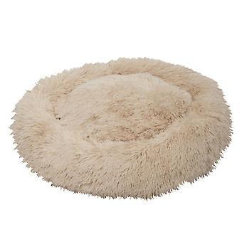 70X70cm khaki kisállat kutya macska nyugtató ágy meleg puha plüss kerek dt2660