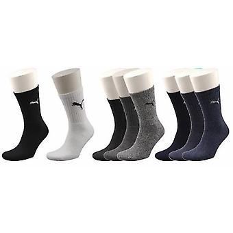 Puma Sports Socks UK Size 6-8 Navy Mix 3Pack