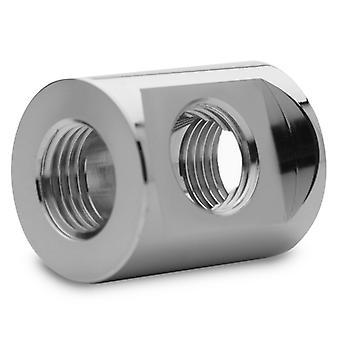Bloques de agua EK EK-Quantum Torque Splitter 3F T Fitting - Níquel negro