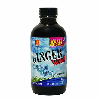 L. A .Naturals Ginger Wow Original Syrup, 4 Oz