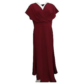 "Antthony Dress ""Metallic Stars"" Surplice V-Neck Maxi Red 727324"