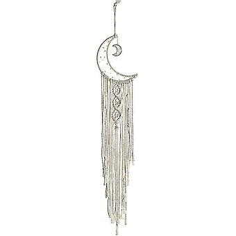 Woven Moon Tapestry Decorative Wall Hanging Dream Catcher Pendant Knitted Net Dreamcatcher