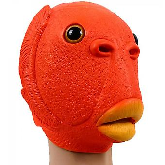 Halloween Costume Fish Head Party Mask Green Adult Animal Cosplay Prop Latex Masks