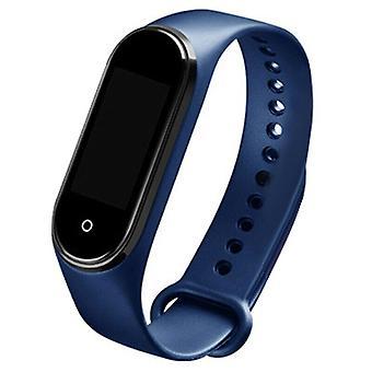 ( Blå) Smart Watch Armbånd Temperatur Temperatur Monitor TPE Watch Wrist Sports Tracker