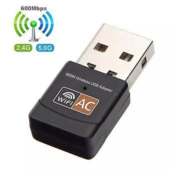 600 Mbps kétsávos vezeték nélküli hálózati adapter USB3.0 Wifi adapter 2,4 GHz/5,8 GHz