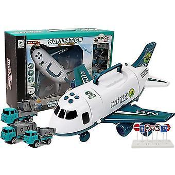 Spielzeugflugzeug mit Autos - leicht und klingend