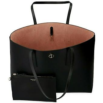Kate Spade Molly Black Leather Large Tote with Pouch PXRUA171