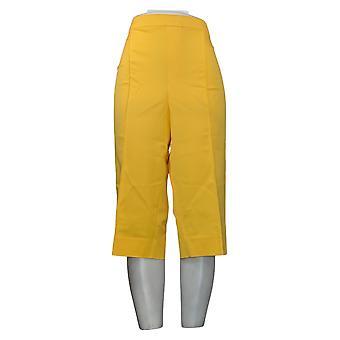 Isaac Mizrahi Live! Dames Plus Broek Pedaal Pushers Geel A377472
