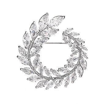 Jemná dívka brož olivový prsten corsage zircon inlaid brož pin