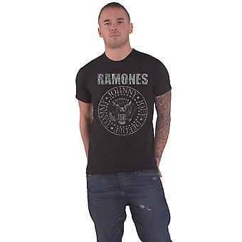 Ramones T Shirt Presidential Seal Distressed Band Logo ny officiell mens svart