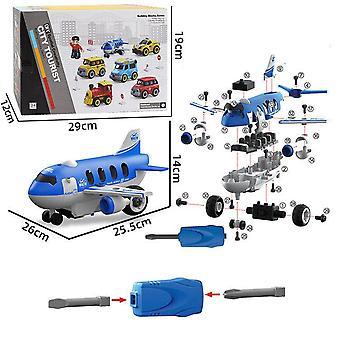 Børns aftagelige gør-det-selv-fly-legetøj