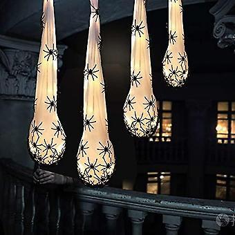 """4 Packs Halloween Decoration Light-up Premake Spider Hanging Egg Sacs (20"""") For Sacks Props Indoor & Outdoor Decorations"""