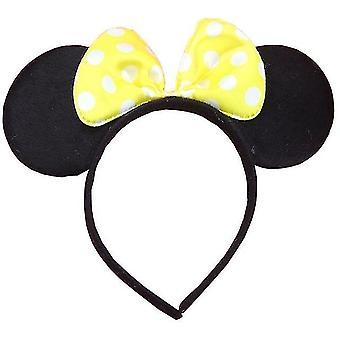 Cute Mickey Minnie Shiny Ears Hairband For Birthday Party Christmas