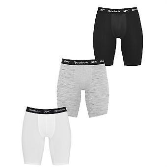 Reebok Mens 3 Pack Hgn Trunks Ademende Elastische Taille Boxer Kort Ondergoed
