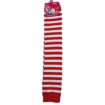 Long leg warmers party costume fine knitted stretch ladies girls fancy dress new