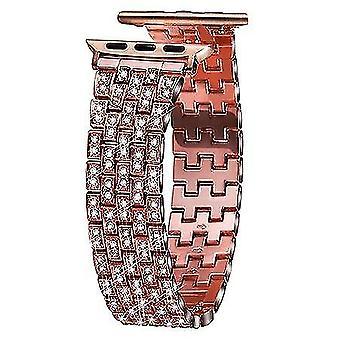 Luxury Full Diamond Metal Bracelet Strap For Apple Watch Series 1/2/3 Fashion Band|Watch Bands