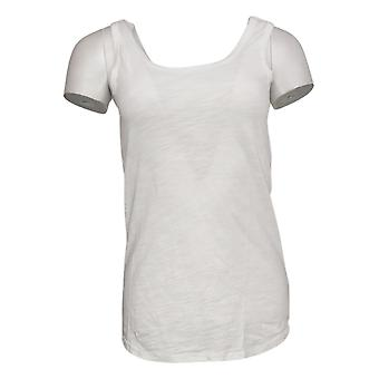 We By Living In Yellow Women's Top Slouchy WEekend Knit Tank White 730322