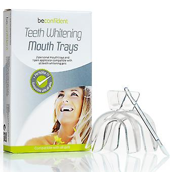 Teeth whitening Mouth rail 2-pack with applicator