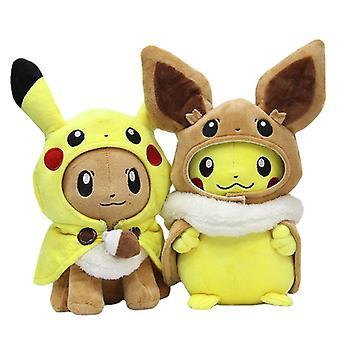 28-30Cm animals pikachu cosplay eevee plush stuffed dolls eevee cosplay pikachu toys kids gift